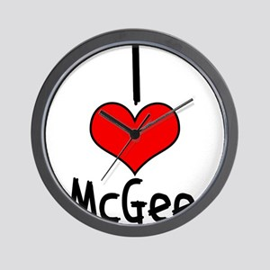 I Heart McGee Wall Clock