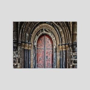 renaissance medieval cathedral door 5'x7'Area Rug