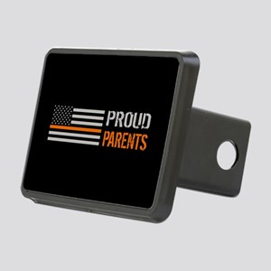 U.S. Flag Orange Line: Pro Rectangular Hitch Cover