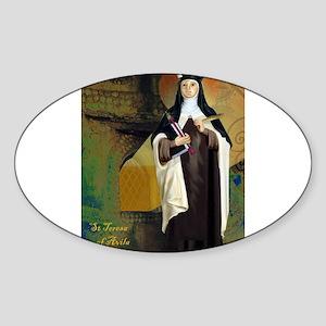St Teresa of Avila Oval Sticker