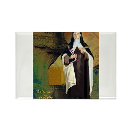 St Teresa of Avila Rectangle Magnet (10 pack)