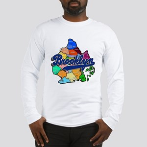 Brooklyn Boro Map Long Sleeve T-Shirt