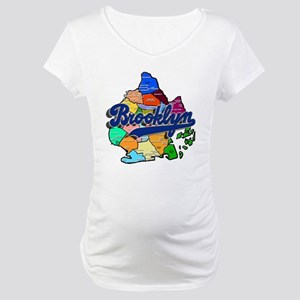 Brooklyn Boro Map Maternity T-Shirt