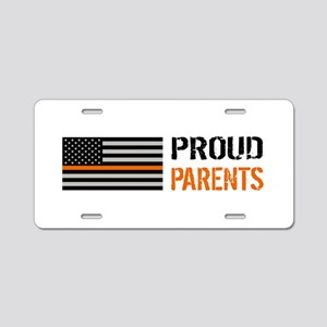U.S. Flag Orange Line: Prou Aluminum License Plate