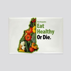 NH Eat Healthy Or Die Rectangle Magnet (10 pack)
