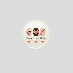 Peace Love Flute Mini Button