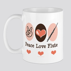 Peace Love Flute Mug