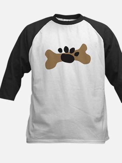 Dog Bone & Paw Print Kids Baseball Jersey