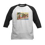 Greetings from Florida Retro Kids Baseball Jersey