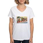 Greetings from Florida Retro Women's V-Neck T-Shir
