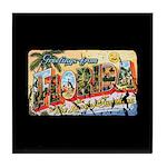 Greetings from Florida Retro Tile Coaster