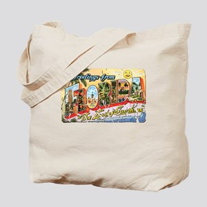 Greetings from Florida Retro Tote Bag