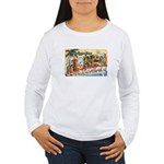 Greetings from Florida Retro Women's Long Sleeve T