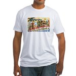 Greetings from Florida Retro Fitted T-Shirt