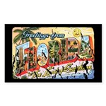Greetings from Florida Retro Rectangle Sticker 50