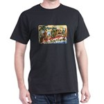 Greetings from Florida Retro Dark T-Shirt