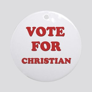 Vote for CHRISTIAN Ornament (Round)