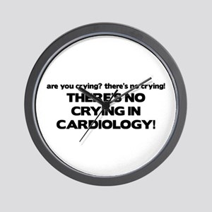 There's No Crying in Cardiology Wall Clock