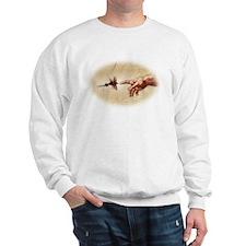 The Creation of fly fishing Sweatshirt