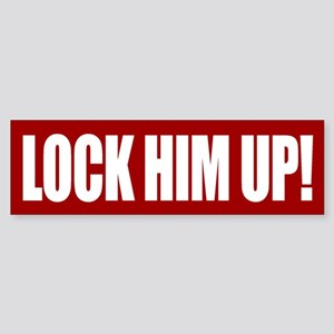 Lock Him Up Bumper Sticker