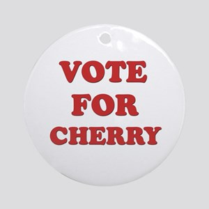 Vote for CHERRY Ornament (Round)