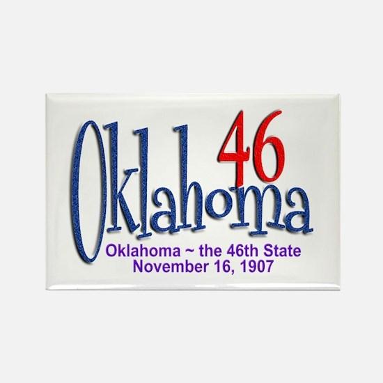 Oklahoma 46 Rectangle Magnet