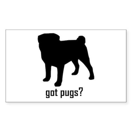 Got Pugs? Rectangle Sticker