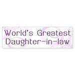World's Greatest Daughter-in-Law Sticker (Bumper 5