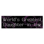 World's Greatest Daughter-in-Law Sticker (Bumper 1