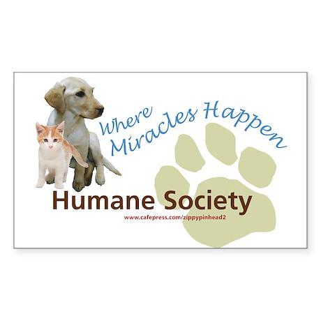 Humane Society Rectangle Sticker