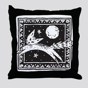 Midnight Cat Throw Pillow