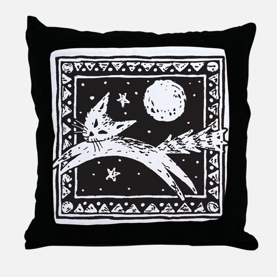 Midnight Cat Throw Pillow