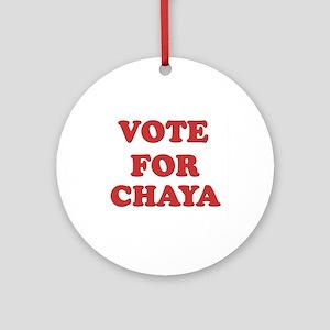 Vote for CHAYA Ornament (Round)