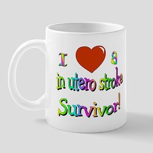 Love a stroke survivor/in utero Mug