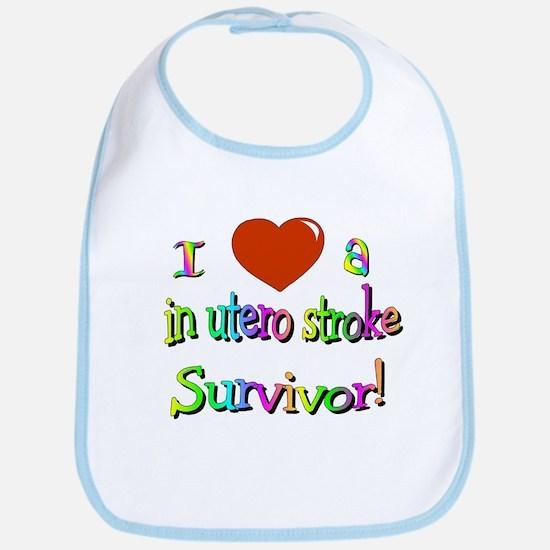 Love a stroke survivor/in utero Bib