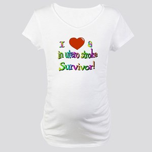 Love a stroke survivor/in utero Maternity T-Shirt