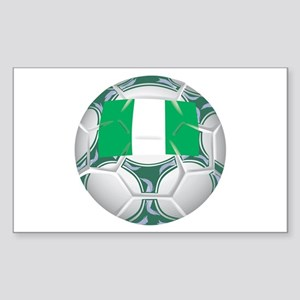 Nigeria Championship Soccer Rectangle Sticker