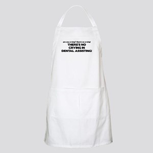There's No Crying Dental Assting BBQ Apron