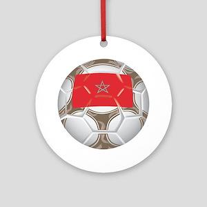Morocco Championship Soccer Keepsake (Round)