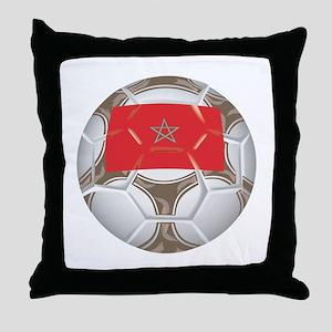 Morocco Championship Soccer Throw Pillow