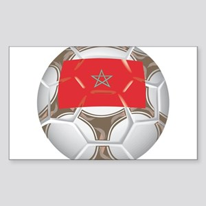Morocco Championship Soccer Rectangle Sticker