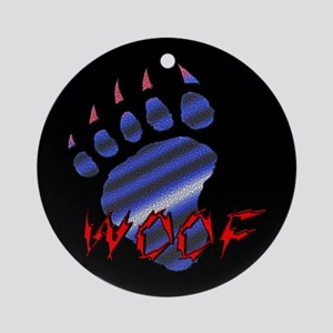 WOOF/LEATHER PRIDE BEAR PAW/B-Ornament (Round)
