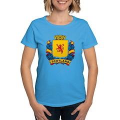 Stylish Scotland Crest Women's Dark T-Shirt