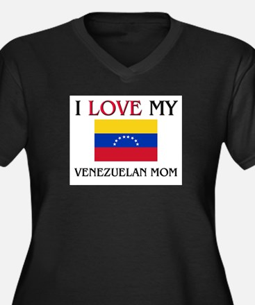 I Love My Venezuelan Mom Women's Plus Size V-Neck