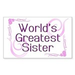 World's Greatest Sister Rectangle Sticker 10 pk)