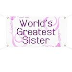 World's Greatest Sister Banner