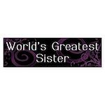 World's Greatest Sister Bumper Sticker (10 pk)
