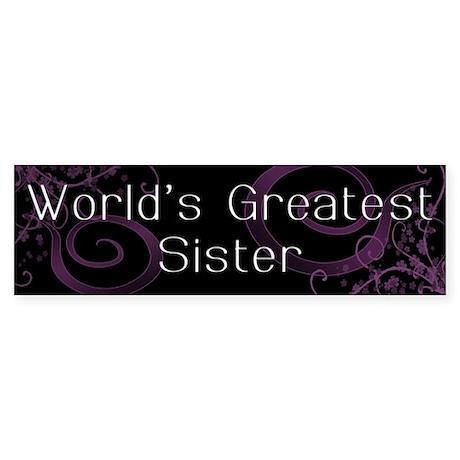 World's Greatest Sister Bumper Sticker