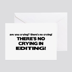 There's No Crying Editing Greeting Cards (Pk of 10