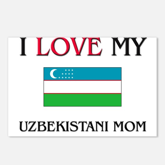 I Love My Uzbekistani Mom Postcards (Package of 8)